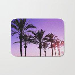 Purple Californian Vibes Palm tree beach photography Bath Mat