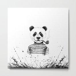 Ink Panda Metal Print