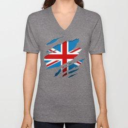 British Flag Pride Unisex V-Neck
