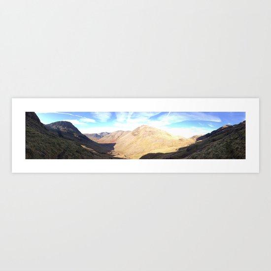 scafell Pike, Lake District. Panoramic Art Print