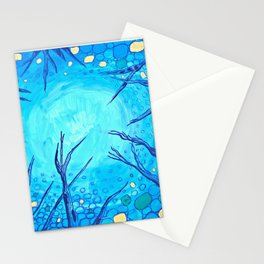 The view of the night sky. Stationery Cards