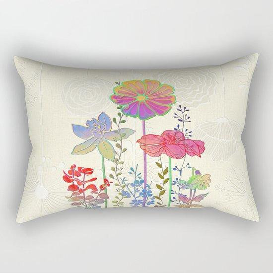 Flower Tales 4 Rectangular Pillow