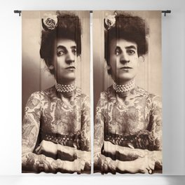 Maud Stevens Wagner Original 1907 Tattooed Lady Blackout Curtain