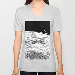 Space upon us Unisex V-Neck