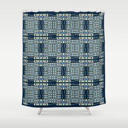 Deep Wata - Gingham Shower Curtain