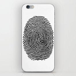 Fingerprint CSI crime scene iPhone Skin