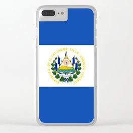 El Salvador Flag Clear iPhone Case