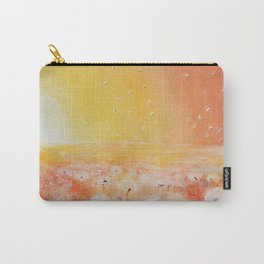 Sunrise and Dandelions, Watercolor Carry-All Pouch