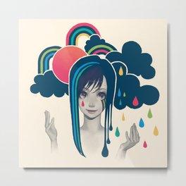 Sun And Rain Metal Print