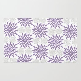 Purple and Lavender Flowers Rug