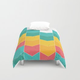 Colorful chevrons Duvet Cover