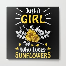 Florist Flowers Flower Gardener Plants Gift Idea Metal Print