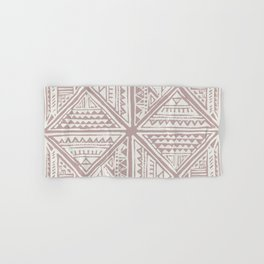 Simply Tribal Tile in Red Earth on Lunar Gray Hand & Bath Towel