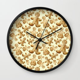 Gingerbread men. And women Wall Clock