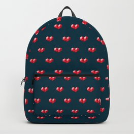 Crystal Heart Pattern Backpack