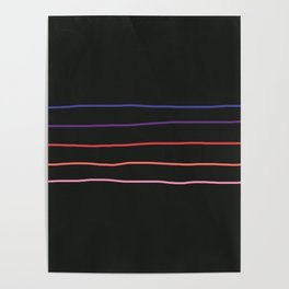 Abstract Retro Stripes #4 Poster