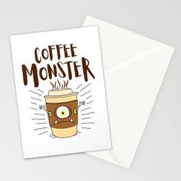 Coffee Monster - Coffeeholic Coffee Cup Stationery Cards