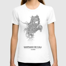 City map // Cali Colombia T-shirt