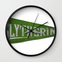 Slytherin 1948 Vintage Pennant Wall Clock