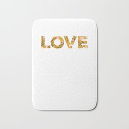 Love Happy Valentines Day Lovers Hearts Day Bath Mat