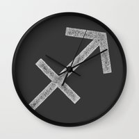 sagittarius Wall Clocks featuring Sagittarius by David Zydd