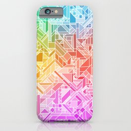 BRIGHT VIBRANT GRADIENT GEOMETRIC SHAPES RAINBOW PRINT TILED MOSAIC TIE DYE COLORFUL iPhone Case