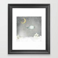 The Snow Maker Framed Art Print
