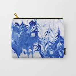 Shigeo - spilled ink abstract painting marble marbling india ink indigo blue bright modern minimal   Carry-All Pouch