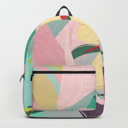 Shapes and Layers no.23 - Abstract Draper pink, green, blue, yellow Backpack