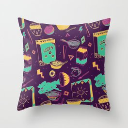 Cerealously Loopy Throw Pillow