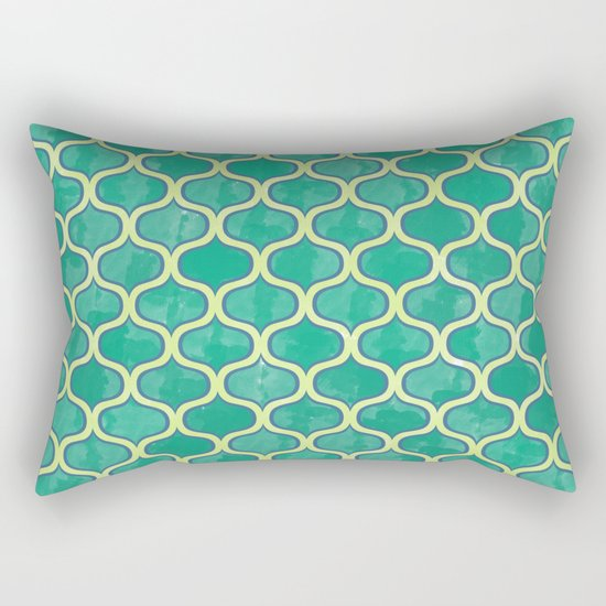 Watercolor Lovely Pattern VVV Rectangular Pillow