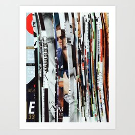 Colorful Strips - Collage Art Print