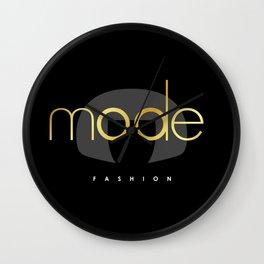 Edna Mode Fashion Dark Gold Wall Clock