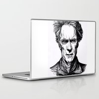 clint eastwood Laptop & iPad Skins featuring Clint Eastwood by Oriane Mlr
