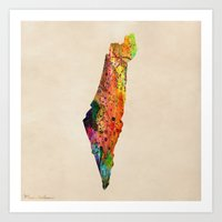 israel Art Prints featuring israel by mark ashkenazi