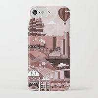travel poster iPhone & iPod Cases featuring Melbourne Travel Poster Illustration by ClaireIllustrations