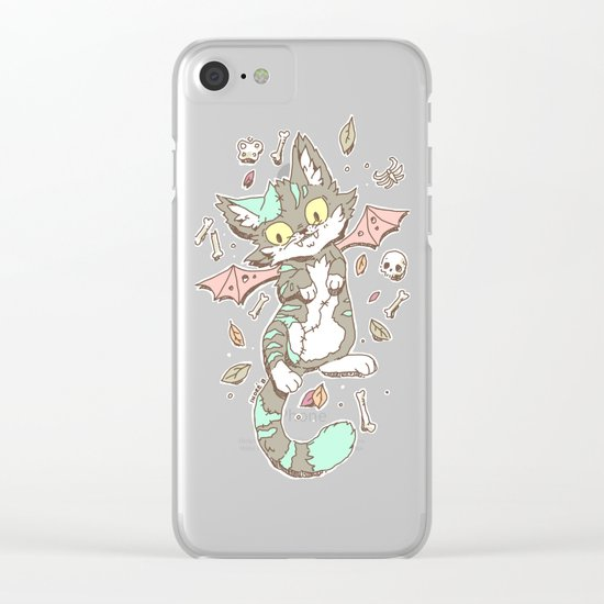 Monster Cat Clear iPhone Case