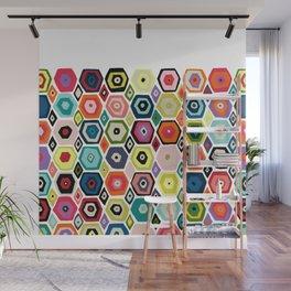hex diamond white Wall Mural