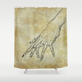 The Sixth Finger of the Writer Shower Curtain
