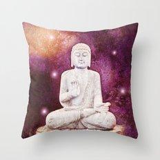 BUDDHA | Red Lights Throw Pillow