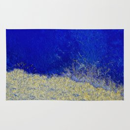 Blue and Gold #3 Rug