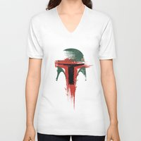 child V-neck T-shirts featuring Bounty Hunter by Victor Vercesi
