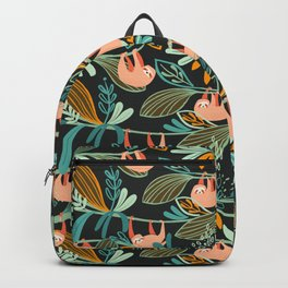 Jungle Sloths Dark Backpack