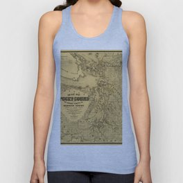 Map of Puget Sound 1877 Unisex Tank Top