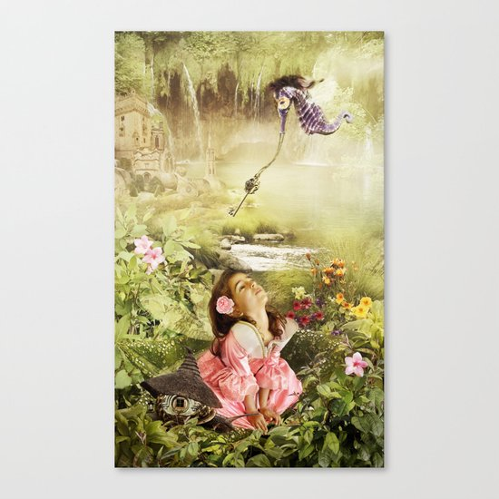 Fairy Mirabell And The Golden Key Canvas Print
