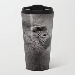 Gorilla. Silverback. BN Metal Travel Mug