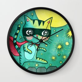 Cat Bandit Wall Clock