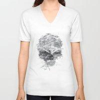 gladiator V-neck T-shirts featuring SKLL3 by karakalemustadi