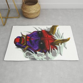 oni red demon Rug