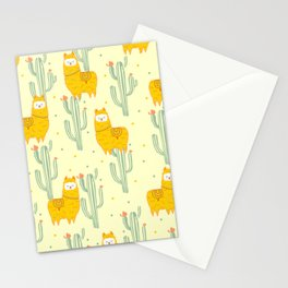 Alpaca summer pattern Stationery Cards